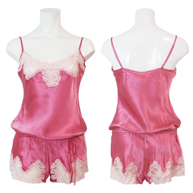 【Aubade】【オーバドゥ】《Crepuscule Satine》VI87 シルクテディ Pink Fizz