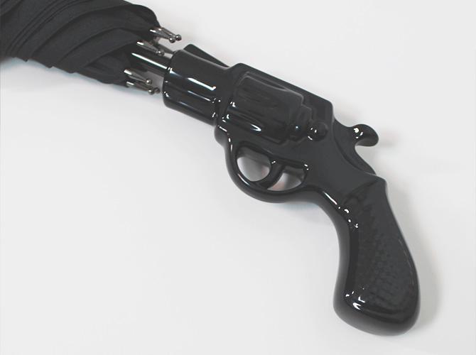 【Chantal Thomass】【シャンタルトーマス】612SV「Revolver」ピストル型ハンドル晴雨兼用 長傘 ブラック