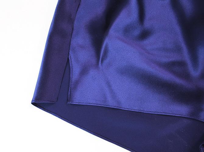 【Luna di Seta】【ルナ ディ セタ】630014 シルクタップパンツ Night Blue
