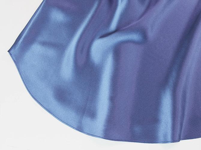 【Luna di Seta】【ルナ ディ セタ】630082 シルクスリップ Force Blue
