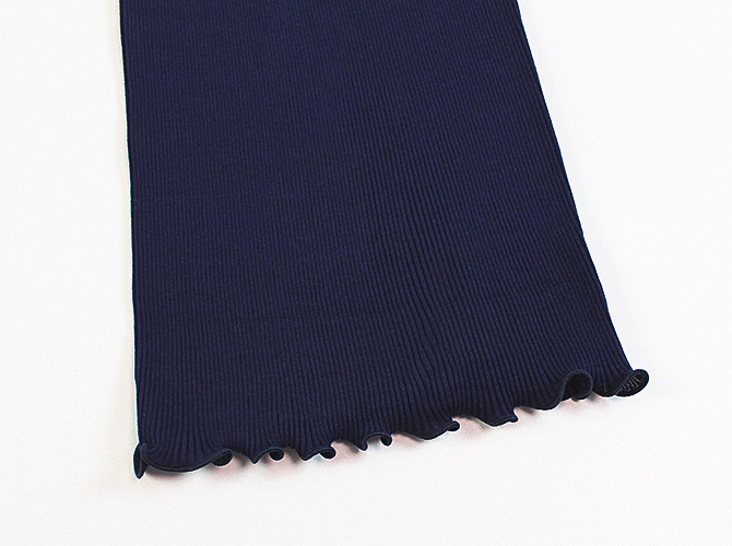 【Oscalito】【オスカリート】3122 コットンリブ タンクトップ BLUE(ネイビー)