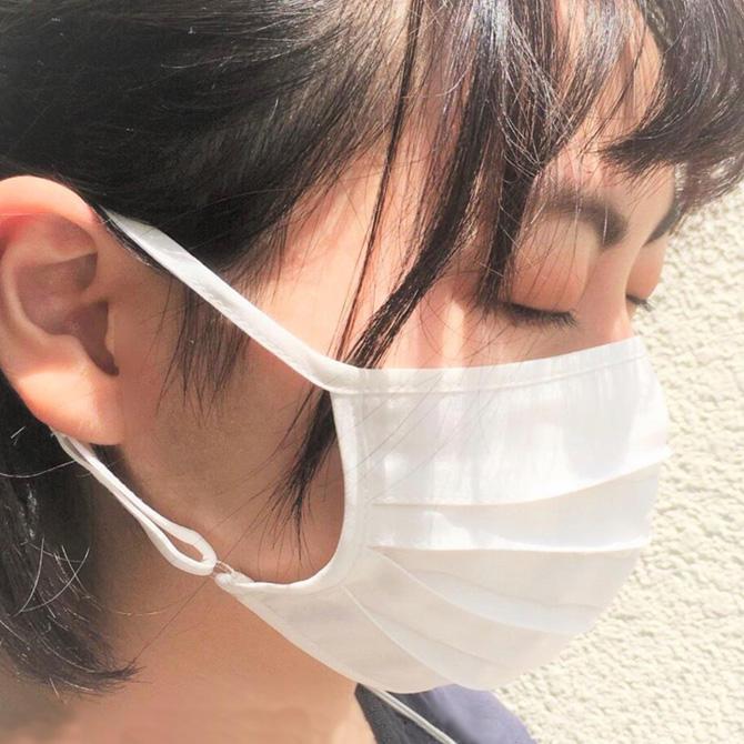【la sakura】【ラ・サクラ】3095  洗えるシルクマスク プリーツタイプ