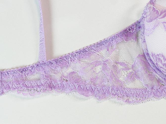 【STUDIO SHINNO】【スチューディオシンノ】 0821 オールレース ダブルパッテッドブラ Lilac